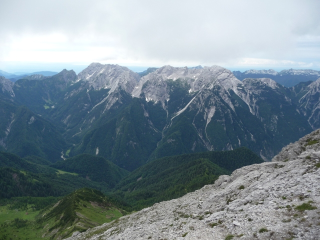Panorama sul nodo Caserine - Cornaget.