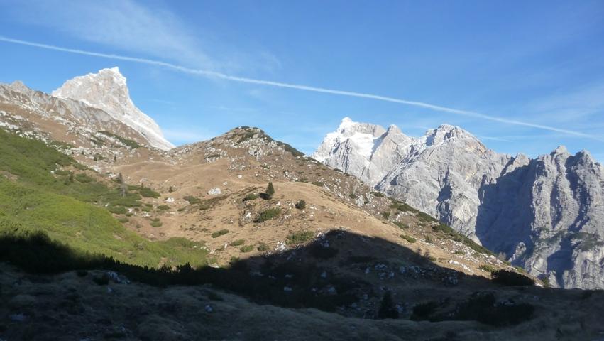 Dalla Forcella Lodina panorama sui Preti-Duranno.